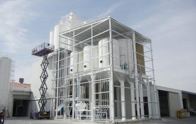 Instalacion silos y transporte neumático