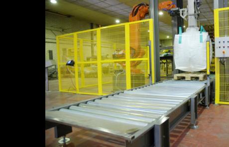 Llenadora big-bag automática con robot
