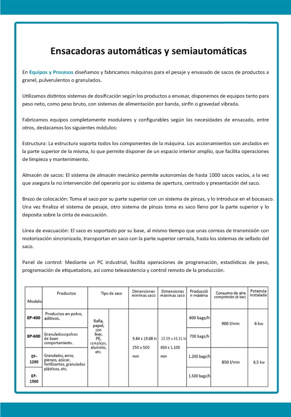 Catálogos - Equipos y Procesos