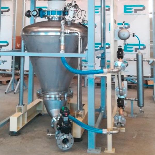 Transporte Neumático - Manipulación del polvo de sílice o productos tóxicos