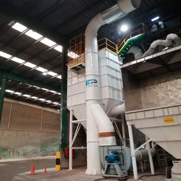 Filtros de Mangas - Manipulación del polvo de sílice o productos tóxicos